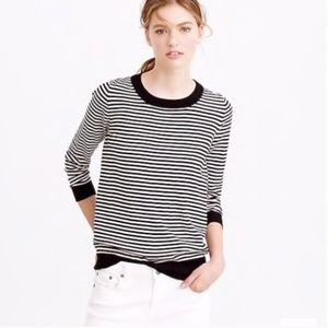 J. Crew Tippi Sweater in Stripe Wool
